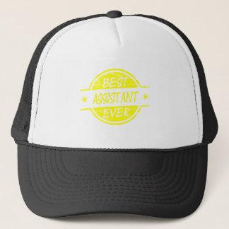 Bestes Assistenten-überhaupt Gelb Truckerkappe