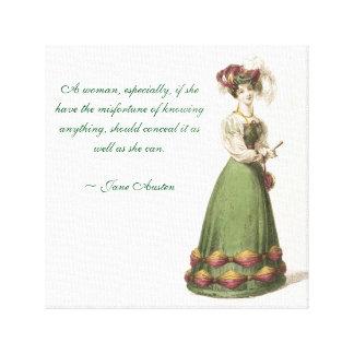 Bestes Austen Zitat Leinwanddruck