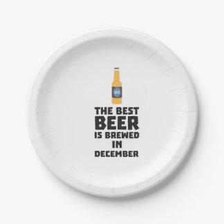 Bestes Bier ist gebrautes im Dezember Zfq4u Pappteller