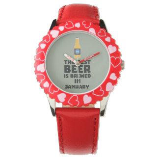 Bestes Bier ist gebrautes im Januar Zxe8k Armbanduhr