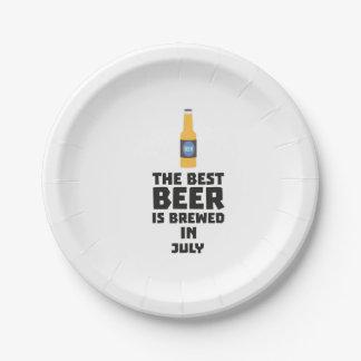 Bestes Bier ist gebrautes im Juli Z4kf3 Pappteller