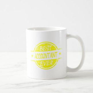 Bestes Buchhalter-überhaupt Gelb Kaffeetasse