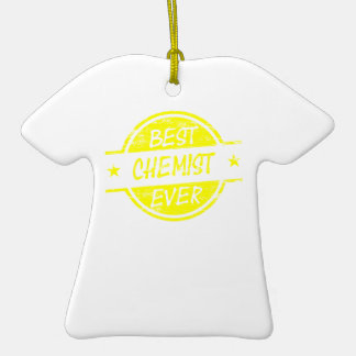 Bestes Chemiker-überhaupt Gelb Ornamente