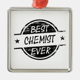 Bestes Chemiker-überhaupt Schwarzes Weinachtsornamente
