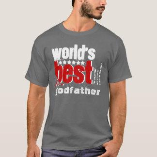 Bestes der Pate X186B der Welt GRAUES ROTES WEISS T-Shirt
