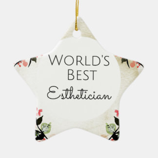 Bestes Estheticiangeschenk 2 der Welt Keramik Ornament