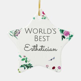 Bestes Estheticiangeschenk 4 der Welt Keramik Ornament