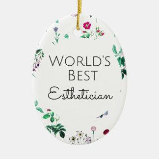Bestes Estheticiangeschenk 4 der Welt Ovales Keramik Ornament