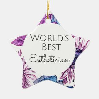 Bestes Estheticiangeschenk 5 der Welt Keramik Ornament