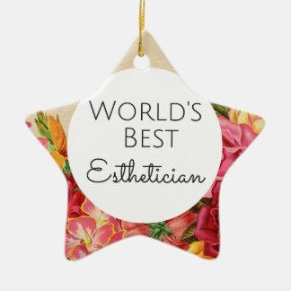 Bestes Estheticiangeschenk der Welt Keramik Stern-Ornament