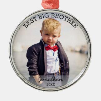 Bestes großer Bruder-neues Baby-kundenspezifisches Silbernes Ornament