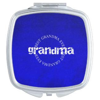 Bestes Großmutter-überhaupt - Vertrag - Blau Taschenspiegel