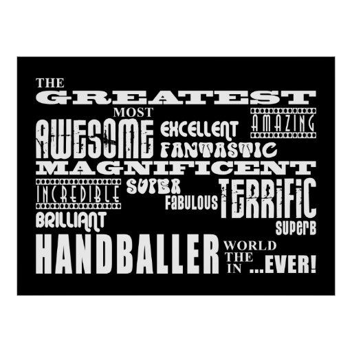 Bestes Handballers: Beststes Handballer Posterdruck