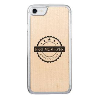 Bestes Mamma überhaupt - Sieger-Preis - Schwarzes Carved iPhone 8/7 Hülle