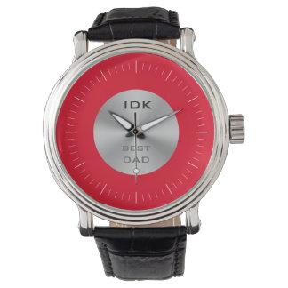 BESTES Monogramm des VATIS   und editable Farbe Armbanduhr