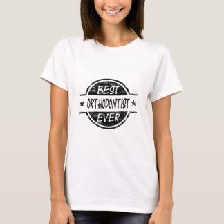 Bestes Orthodontist-überhaupt Schwarzes T-Shirt
