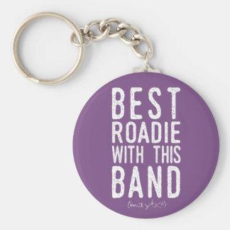 Bestes Roadie (möglicherweise) (weiß) Schlüsselanhänger