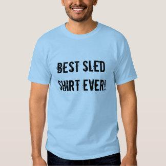 """Bestes Schlitten-Shirt überhaupt"" hellblaues Shirts"