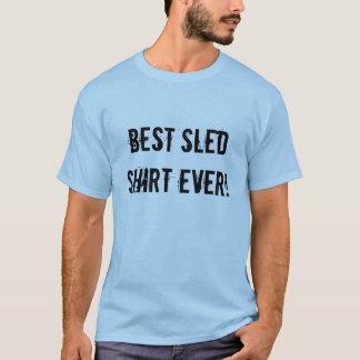 """""""Bestes Schlitten-Shirt überhaupt"""" hellblaues T-Shirt"""
