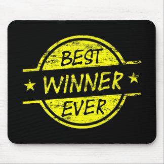 Bestes Sieger-überhaupt Gelb Mousepads