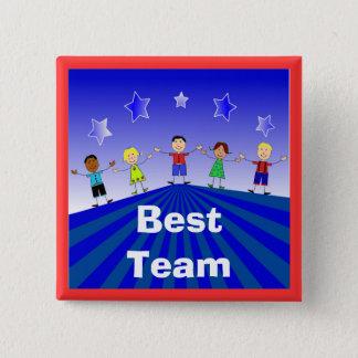 Bestes Team-Knopf-Button Quadratischer Button 5,1 Cm