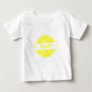 Bestes Vati-überhaupt Gelb Baby T-shirt