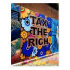Besteuern Sie die Reichen - San Francisco Postkarte