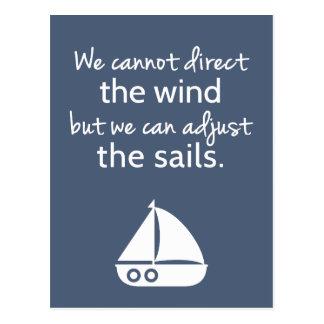 Bestimmtheits-Denkrichtung-Seesegelboot Zitat Postkarte