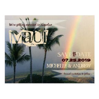 Bestimmungsort-tropische Insel Vintag Save the Postkarte