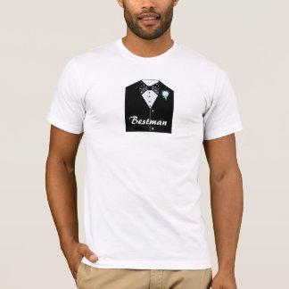 Bestman schwarzes Smoking T-Shirt
