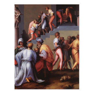 Bestrafung des Bäckers durch Jacopo Pontormo Postkarte