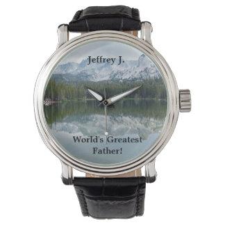 Bestste der Vater-Armbanduhr der Welt, See-Berg Armbanduhr