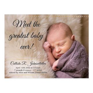 Bestste Postkarten-Mitteilung des Baby-überhaupt | Postkarte