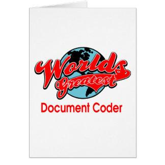 Bestster das Dokumenten-Kodierer der Welt Karte