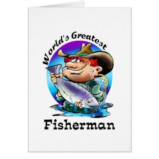 Bestster der Fischer-Gang der Welt Grußkarte