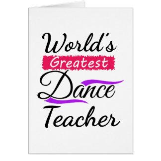 Bestster der Tanz-Lehrer der Welt Karte