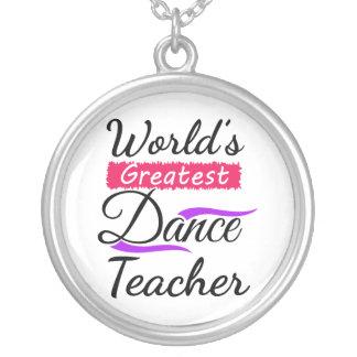 Bestster der Tanz-Lehrer der Welt Versilberte Kette