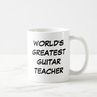 """Bestster die Gitarren-Lehrer-"""" Tasse """"der Welt"""