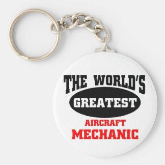 Bestster Flugzeugmechaniker Standard Runder Schlüsselanhänger