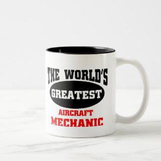 Bestster Flugzeugmechaniker Zweifarbige Tasse