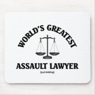 Bestster gerade scherzender Angriffsrechtsanwalt Mousepad