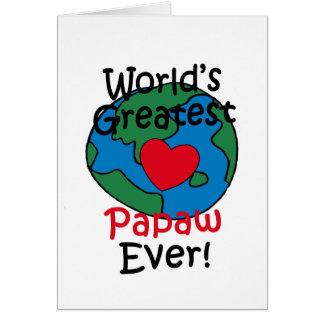 Beststes Herz die Papaya-Frucht der Welt Karte