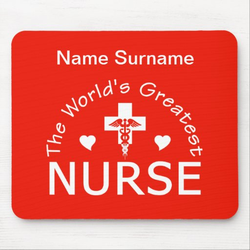 Beststes Krankenschwester mousepad - fertigen Sie