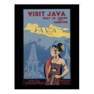 Besuch Java nur 6 Stunden von Singapur Postkarte