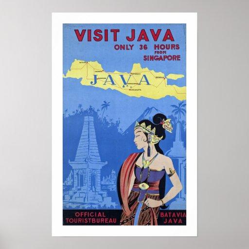Besuch Java Posterdruck