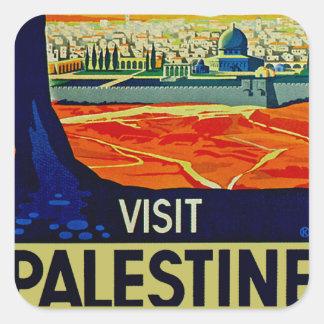 Besuch Palästina Quadratsticker