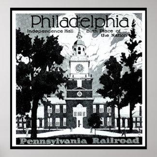 Besuch Philadelphia auf der Pennsylvania-Eisenbahn Poster