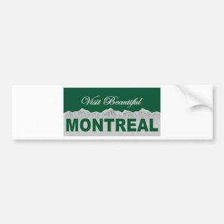 Besuch schönes Montreal Autoaufkleber
