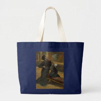 Besuch zu einem Museum durch Edgar Degas Jumbo Stoffbeutel