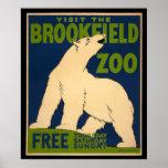 Besuchen Sie das Brookfield Zoo-Plakat